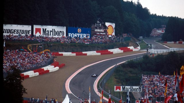 The awesome Eau Rouge corner, 1997. ©Sutton Motorsport Images