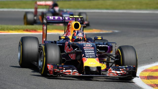 Daniil Kvyat (RUS) Red Bull Racing RB11 at Formula One World Championship, Rd11, Belgian Grand Prix, Race, Spa Francorchamps, Belgium, Sunday 23 August 2015. &copy&#x3b; Sutton Motorsport Images