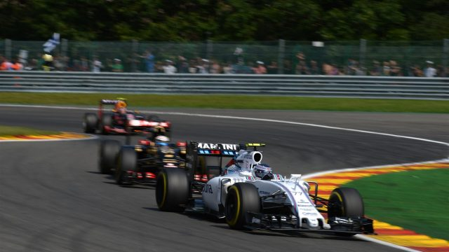 Valtteri Bottas (FIN) Williams FW37 at Formula One World Championship, Rd11, Belgian Grand Prix, Race, Spa Francorchamps, Belgium, Sunday 23 August 2015. &copy&#x3b; Sutton Motorsport Images