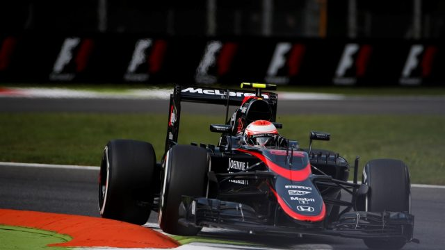 Jenson Button (GBR) McLaren MP4-30 at Formula One World Championship, Rd12, Italian Grand Prix, Practice, Monza, Italy, Friday 4  September 2015. &copy&#x3b; Sutton Motorsport Images