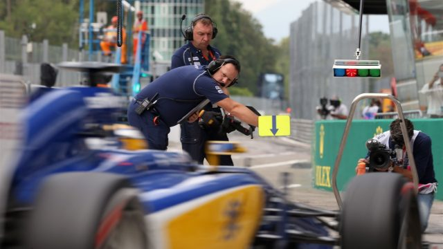 Marcus Ericsson (SWE) Sauber C34 returns to pit lane at Formula One World Championship, Rd12, Italian Grand Prix, Practice, Monza, Italy, Friday 4  September 2015. &copy&#x3b; Sutton Motorsport Images