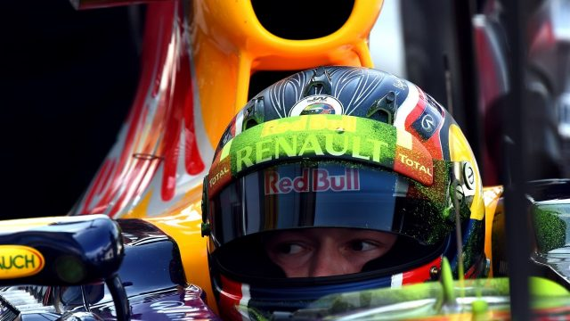 Daniil Kvyat (RUS) Red Bull Racing RB11 with aero paint on his helmet at Formula One World Championship, Rd12, Italian Grand Prix, Practice, Monza, Italy, Friday 4  September 2015. &copy&#x3b; Sutton Motorsport Images