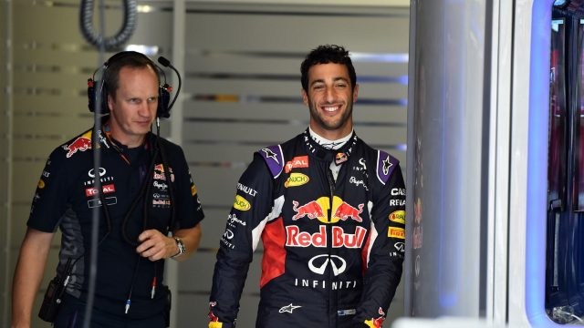 Paul Monaghan (GBR) Red Bull Racing Chief Engineer and Daniel Ricciardo (AUS) Red Bull Racing at Formula One World Championship, Rd12, Italian Grand Prix, Practice, Monza, Italy, Friday 4  September 2015. &copy&#x3b; Sutton Motorsport Images