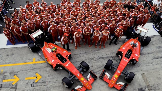 Ferrari SF15-T Team photo at Formula One World Championship, Rd12, Italian Grand Prix, Practice, Monza, Italy, Friday 4  September 2015. &copy&#x3b; Sutton Motorsport Images