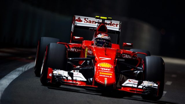 Kimi Raikkonen (FIN) Ferrari SF15-T at Formula One World Championship, Rd13, Singapore Grand Prix, Practice, Marina Bay Street Circuit, Singapore, Friday 18 September 2015. &copy&#x3b; Sutton Motorsport Images
