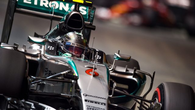 Nico Rosberg (GER) Mercedes AMG F1 W06 at Formula One World Championship, Rd13, Singapore Grand Prix, Practice, Marina Bay Street Circuit, Singapore, Friday 18 September 2015. &copy&#x3b; Sutton Motorsport Images