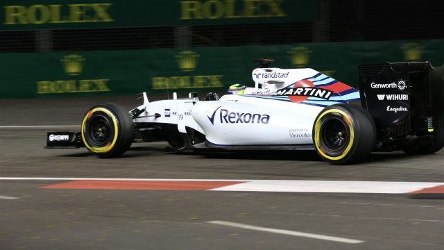 Felipe Massa (BRA) Williams FW37 at Formula One World Championship, Rd13, Singapore Grand Prix, Practice, Marina Bay Street Circuit, Singapore, Friday 18 September 2015. &copy&#x3b; Sutton Motorsport Images
