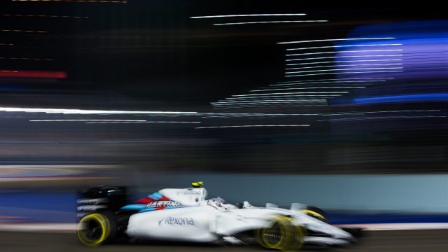 Valtteri Bottas (FIN) Williams FW37 at Formula One World Championship, Rd13, Singapore Grand Prix, Practice, Marina Bay Street Circuit, Singapore, Friday 18 September 2015. &copy&#x3b; Sutton Motorsport Images