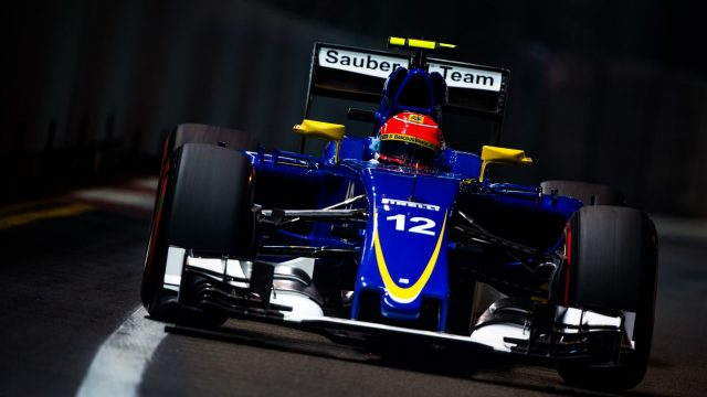 Felipe Nasr (BRA) Sauber C34 at Formula One World Championship, Rd13, Singapore Grand Prix, Practice, Marina Bay Street Circuit, Singapore, Friday 18 September 2015. &copy&#x3b; Sutton Motorsport Images