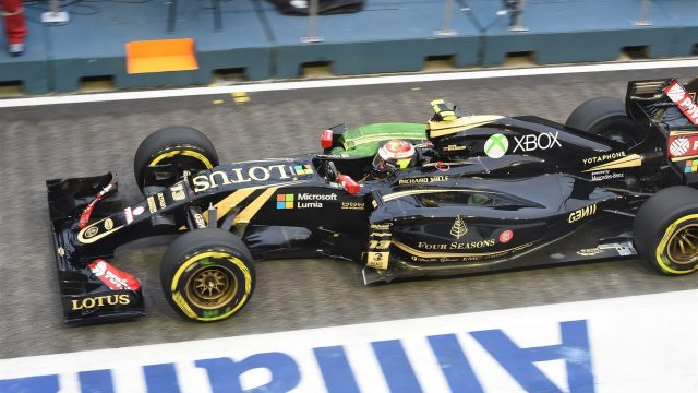 Pastor Maldonado (VEN) Lotus E23 Hybrid at Formula One World Championship, Rd13, Singapore Grand Prix, Practice, Marina Bay Street Circuit, Singapore, Friday 18 September 2015. &copy&#x3b; Sutton Motorsport Images
