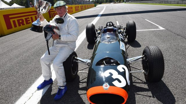 Jackie Stewart (GBR) demonstrates his 1965 Italian Grand Prix winning BRM P261 at Formula One World Championship, Rd12, Italian Grand Prix, Qualifying, Monza, Italy, Saturday 5  September 2015. &copy&#x3b; Sutton Motorsport Images