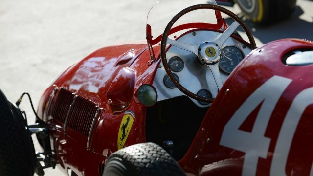 Shell announce new innovation partnership with Ferrari on the Monza banking with F1 car and Ferrari 166 F2 car at Formula One World Championship, Rd12, Italian Grand Prix, Qualifying, Monza, Italy, Saturday 5  September 2015. &copy&#x3b; Sutton Motorsport Images