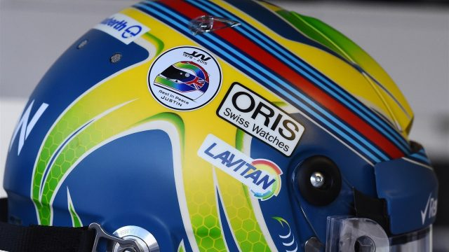 Felipe Massa (BRA) Williams with tribute to Justin Wilson (GBR) on his helmet at at Formula One World Championship, Rd12, Italian Grand Prix, Qualifying, Monza, Italy, Saturday 5  September 2015. &copy&#x3b; Sutton Motorsport Images