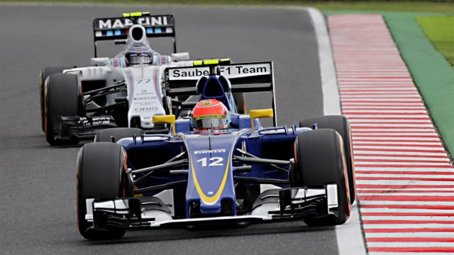 Felipe Nasr (BRA) Sauber C34 at Formula One World Championship, Rd14, Japanese Grand Prix, Qualifying, Suzuka, Japan, Saturday 26 September 2015. &copy&#x3b; Sutton Motorsport Images