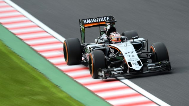 Nico Hulkenberg (GER) Force India VJM08 at Formula One World Championship, Rd14, Japanese Grand Prix, Qualifying, Suzuka, Japan, Saturday 26 September 2015. &copy&#x3b; Sutton Motorsport Images