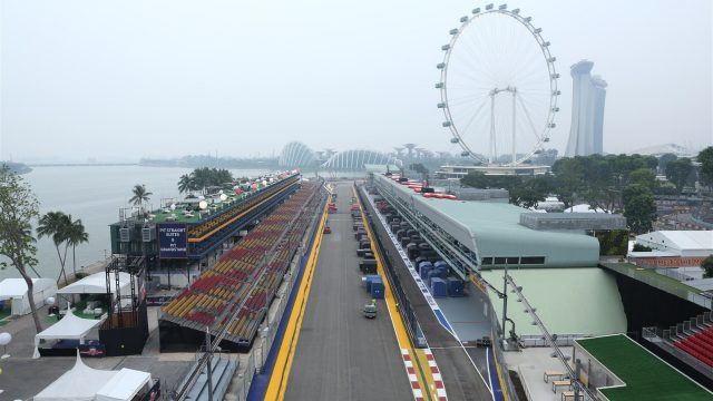 Track view at Formula One World Championship, Rd13, Singapore Grand Prix, Preparations, Marina Bay Street Circuit, Singapore, Sunday 13 September 2015. &copy&#x3b; Sutton Motorsport Images