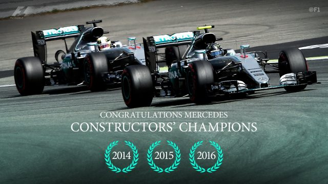 Mercedes clinched their third straight constructors' title in Japan © FOWC Ltd