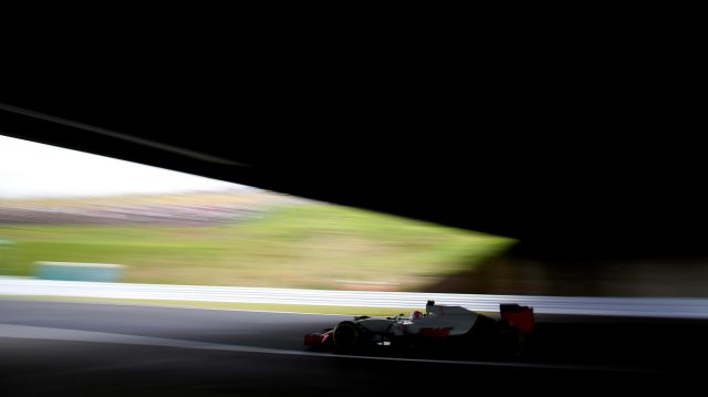Romain Grosjean (FRA) Haas VF-16 at Formula One World Championship, Rd17, Japanese Grand Prix, Qualifying, Suzuka, Japan, Saturday 8 October 2016. &copy&#x3b; Sutton Images