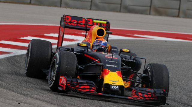 Max Verstappen (NED) Red Bull Racing RB12 at Formula One World Championship, Rd18, United States Grand Prix, Race, Circuit of the Americas, Austin, Texas, USA, Sunday 23 October 2016. &copy&#x3b; Sutton Images