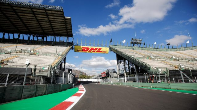 Grandstand and Track view at Formula One World Championship, Rd19, Mexican Grand Prix, Preparations, Circuit Hermanos Rodriguez, Mexico City, Mexico, Thursday 27 October 2016. &copy&#x3b; Sutton Images