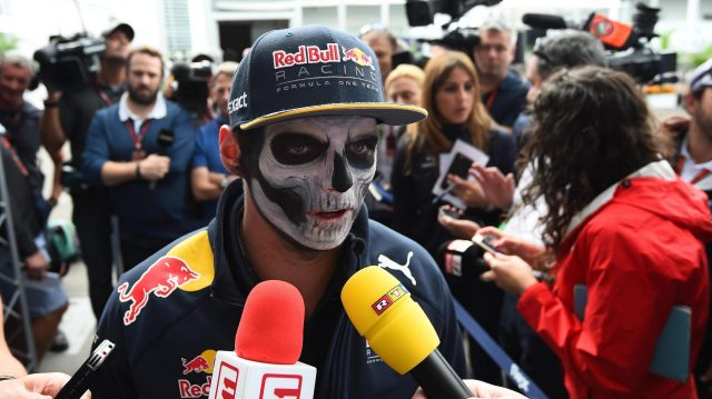 Max Verstappen (NED) Red Bull Racing with Day of the Dead face paint at Formula One World Championship, Rd19, Mexican Grand Prix, Preparations, Circuit Hermanos Rodriguez, Mexico City, Mexico, Thursday 27 October 2016. &copy&#x3b; Sutton Images