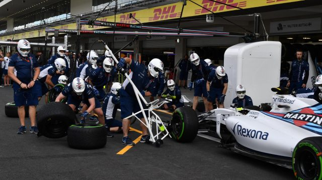 Williams pit stop practicce at Formula One World Championship, Rd19, Mexican Grand Prix, Preparations, Circuit Hermanos Rodriguez, Mexico City, Mexico, Thursday 27 October 2016. &copy&#x3b; Sutton Images