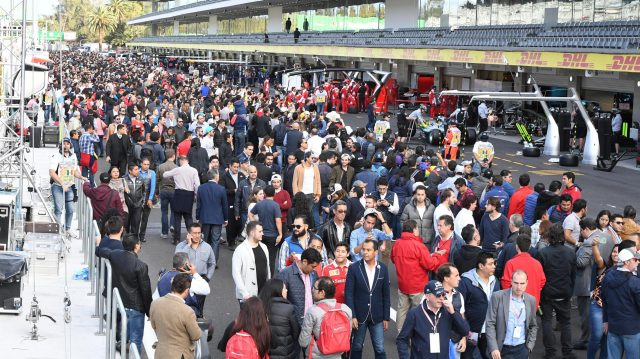 Fans at Formula One World Championship, Rd19, Mexican Grand Prix, Preparations, Circuit Hermanos Rodriguez, Mexico City, Mexico, Thursday 27 October 2016. &copy&#x3b; Sutton Images