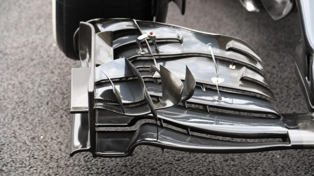 McLaren MP4-31 front wing detail at Formula One World Championship, Rd19, Mexican Grand Prix, Preparations, Circuit Hermanos Rodriguez, Mexico City, Mexico, Thursday 27 October 2016. &copy&#x3b; Sutton Images