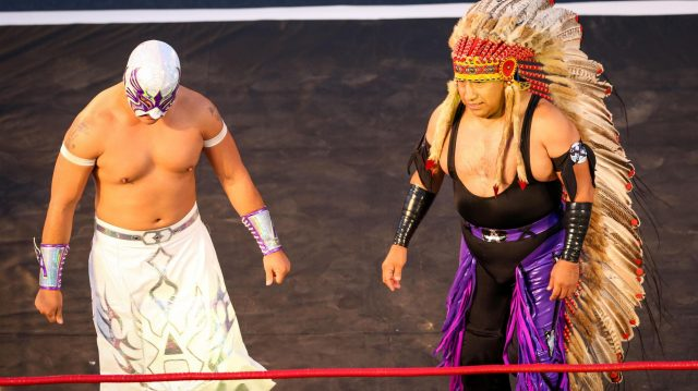 Lucha Libre Wrestling Festival at Formula One World Championship, Rd19, Mexican Grand Prix, Preparations, Circuit Hermanos Rodriguez, Mexico City, Mexico, Thursday 27 October 2016. &copy&#x3b; Sutton Images