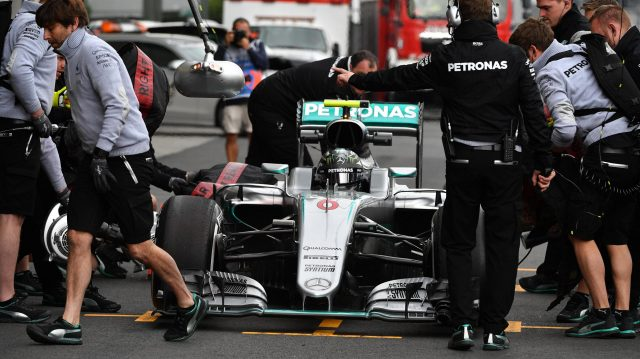 Nico Rosberg (GER) Mercedes-Benz F1 W07 Hybrid at Formula One World Championship, Rd19, Mexican Grand Prix, Practice, Circuit Hermanos Rodriguez, Mexico City, Mexico, Friday 28 October 2016. &copy&#x3b; Sutton Images