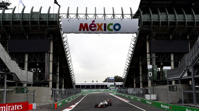 Esteban Gutierrez (MEX) Haas VF-16 at Formula One World Championship, Rd19, Mexican Grand Prix, Practice, Circuit Hermanos Rodriguez, Mexico City, Mexico, Friday 28 October 2016. &copy&#x3b; Sutton Images