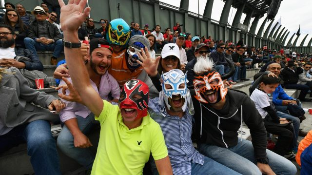 Fans at Formula One World Championship, Rd19, Mexican Grand Prix, Practice, Circuit Hermanos Rodriguez, Mexico City, Mexico, Friday 28 October 2016. &copy&#x3b; Sutton Images