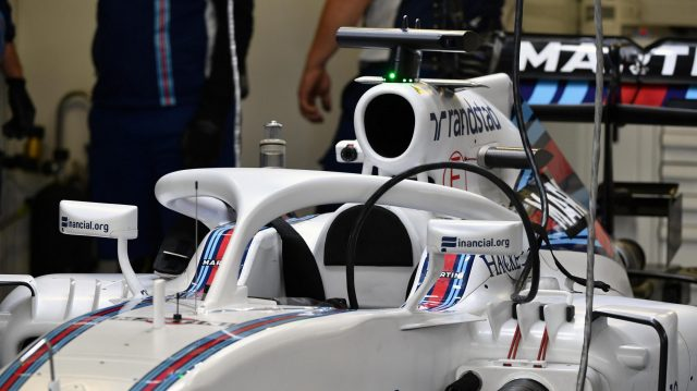 Williams FW38 with halo at Formula One World Championship, Rd19, Mexican Grand Prix, Practice, Circuit Hermanos Rodriguez, Mexico City, Mexico, Friday 28 October 2016. &copy&#x3b; Sutton Images