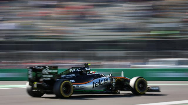 Sergio Perez (MEX) Force India VJM09 at Formula One World Championship, Rd19, Mexican Grand Prix, Qualifying, Circuit Hermanos Rodriguez, Mexico City, Mexico, Saturday 29 October 2016. &copy&#x3b; Sutton Images