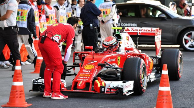 Kimi Raikkonen (FIN) Ferrari SF16-H in parc ferme at Formula One World Championship, Rd19, Mexican Grand Prix, Qualifying, Circuit Hermanos Rodriguez, Mexico City, Mexico, Saturday 29 October 2016. &copy&#x3b; Sutton Images