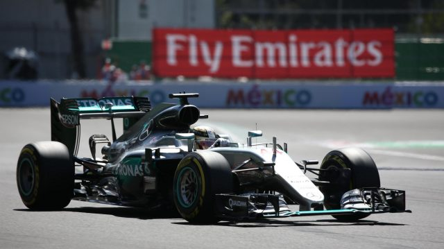 Lewis Hamilton (GBR) Mercedes-Benz F1 W07 Hybrid at Formula One World Championship, Rd19, Mexican Grand Prix, Qualifying, Circuit Hermanos Rodriguez, Mexico City, Mexico, Saturday 29 October 2016. &copy&#x3b; Sutton Images
