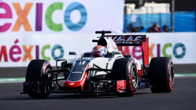 Romain Grosjean (FRA) Haas VF-16 at Formula One World Championship, Rd19, Mexican Grand Prix, Qualifying, Circuit Hermanos Rodriguez, Mexico City, Mexico, Saturday 29 October 2016. &copy&#x3b; Sutton Images