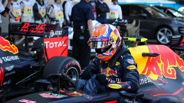 Max Verstappen (NED) Red Bull Racing RB12 in parc ferme at Formula One World Championship, Rd19, Mexican Grand Prix, Qualifying, Circuit Hermanos Rodriguez, Mexico City, Mexico, Saturday 29 October 2016. &copy&#x3b; Sutton Images