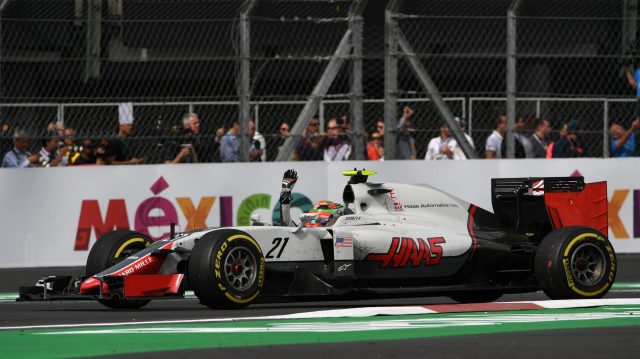 Esteban Gutierrez (MEX) Haas VF-16 waves to the crowd at Formula One World Championship, Rd19, Mexican Grand Prix, Race, Circuit Hermanos Rodriguez, Mexico City, Mexico, Sunday 30 October 2016. &copy&#x3b; Sutton Images
