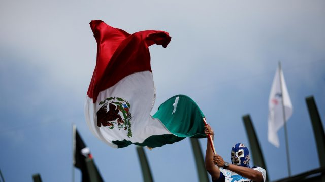 Fan and Mexican flag at Formula One World Championship, Rd19, Mexican Grand Prix, Race, Circuit Hermanos Rodriguez, Mexico City, Mexico, Sunday 30 October 2016. &copy&#x3b; Sutton Images