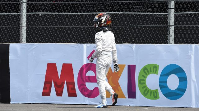 Race retiree Pascal Wehrlein (GER) Manor Racing after crashing out of the race on lap one at Formula One World Championship, Rd19, Mexican Grand Prix, Race, Circuit Hermanos Rodriguez, Mexico City, Mexico, Sunday 30 October 2016. &copy&#x3b; Sutton Images