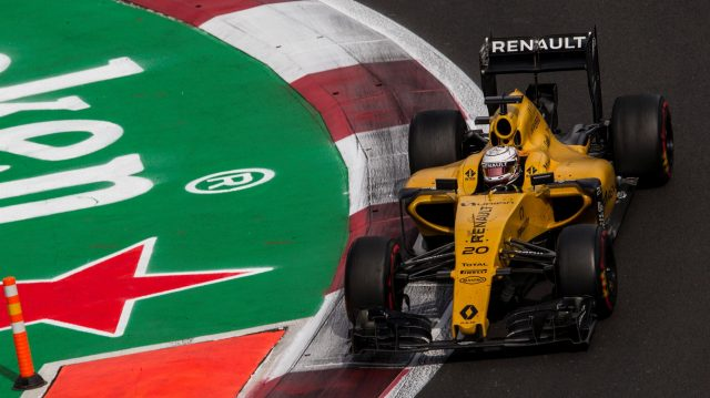 Kevin Magnussen (DEN) Renault Sport F1 Team RS16 at Formula One World Championship, Rd19, Mexican Grand Prix, Race, Circuit Hermanos Rodriguez, Mexico City, Mexico, Sunday 30 October 2016. &copy&#x3b; Sutton Images