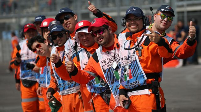 Marshals at Formula One World Championship, Rd19, Mexican Grand Prix, Race, Circuit Hermanos Rodriguez, Mexico City, Mexico, Sunday 30 October 2016. &copy&#x3b; Sutton Images