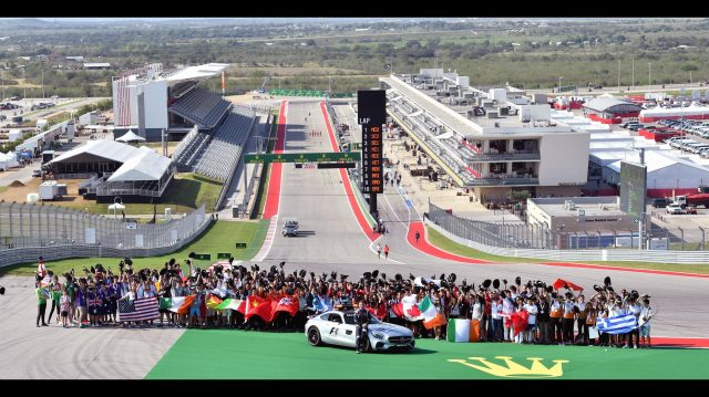 F1 in Schools 2016 Group Photo at Formula One World Championship, Rd18, United States Grand Prix, Preparations, Circuit of the Americas, Austin, Texas, USA, Thursday 20 October 2016. &copy&#x3b; Sutton Images
