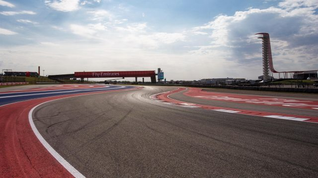 Track view at Formula One World Championship, Rd18, United States Grand Prix, Preparations, Circuit of the Americas, Austin, Texas, USA, Thursday 20 October 2016. &copy&#x3b; Sutton Images