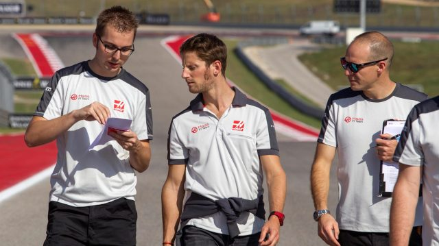 Romain Grosjean (FRA) Haas F1 walks the track at Formula One World Championship, Rd18, United States Grand Prix, Preparations, Circuit of the Americas, Austin, Texas, USA, Thursday 20 October 2016. &copy&#x3b; Sutton Images