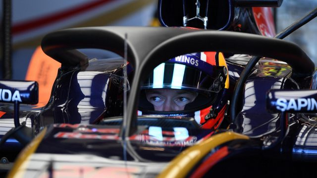 Daniil Kvyat (RUS) Scuderia Toro Rosso STR11 with halo at Formula One World Championship, Rd18, United States Grand Prix, Practice, Circuit of the Americas, Austin, Texas, USA, Friday 21 October 2016. &copy&#x3b; Sutton Images