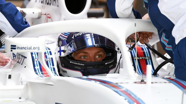 Valtteri Bottas (FIN) Williams FW38 with halo at Formula One World Championship, Rd18, United States Grand Prix, Practice, Circuit of the Americas, Austin, Texas, USA, Friday 21 October 2016. &copy&#x3b; Sutton Images