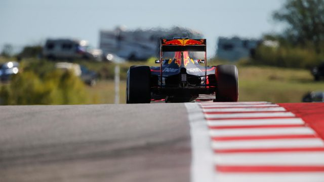 Max Verstappen (NED) Red Bull Racing RB12 at Formula One World Championship, Rd18, United States Grand Prix, Practice, Circuit of the Americas, Austin, Texas, USA, Friday 21 October 2016. &copy&#x3b; Sutton Images