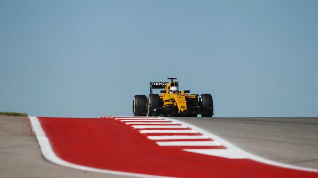 Kevin Magnussen (DEN) Renault Sport F1 Team RS16 at Formula One World Championship, Rd18, United States Grand Prix, Practice, Circuit of the Americas, Austin, Texas, USA, Friday 21 October 2016. &copy&#x3b; Sutton Images